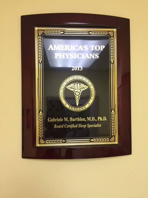 America's Top Physicians 2013 - Dr. Gabriele Barthlen